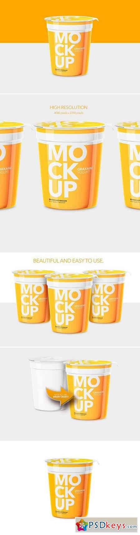 Yogurt Cup - High Angle - Mockup 1080065