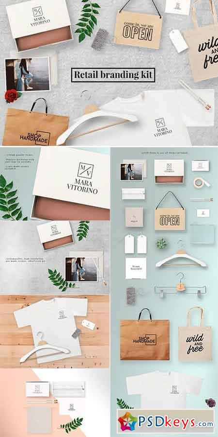 Retail branding mock up kit 1060658