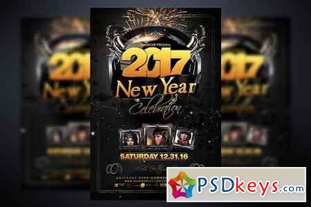 New Year Party Flyer Template 937514