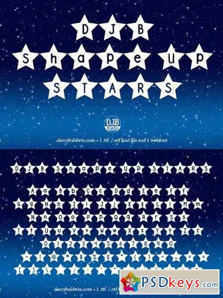 DJB Shape Up Stars Font 1079277