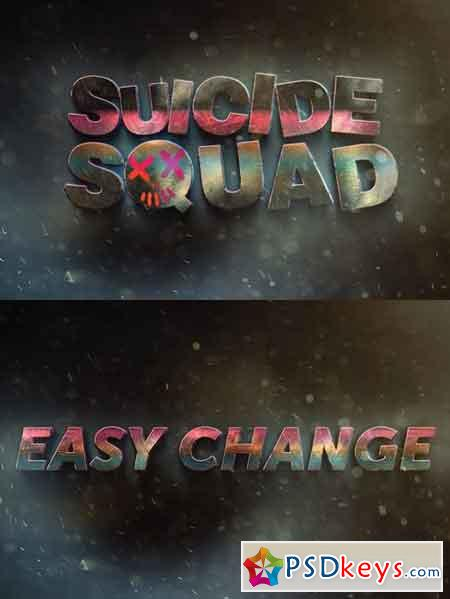 Suicide Squad Movie Text Effect 1084428