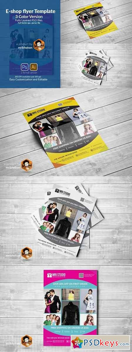 E-Shop Flyer Template 957476
