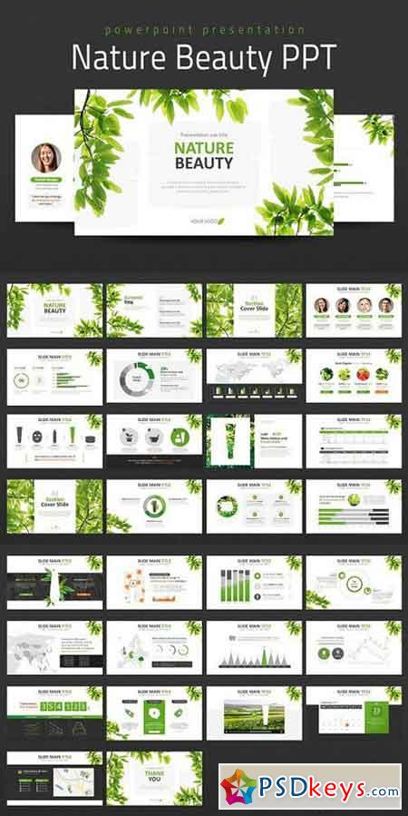 Nature Beauty PPT 1007151 » Free Download Photoshop Vector Stock