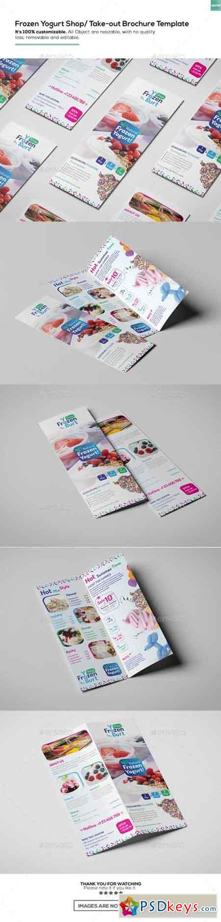 Frozen Yogurt Shop Take-out Brochure Template 16455695