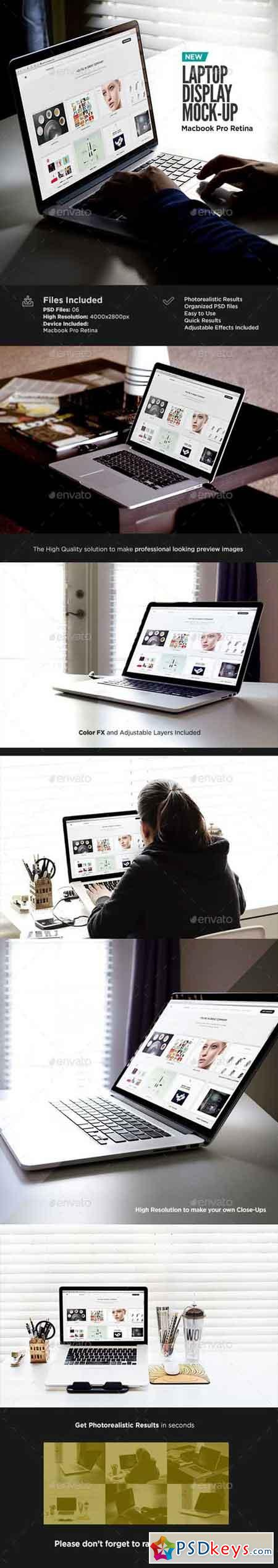 Macbook Retina Display Mock-Up 13620370