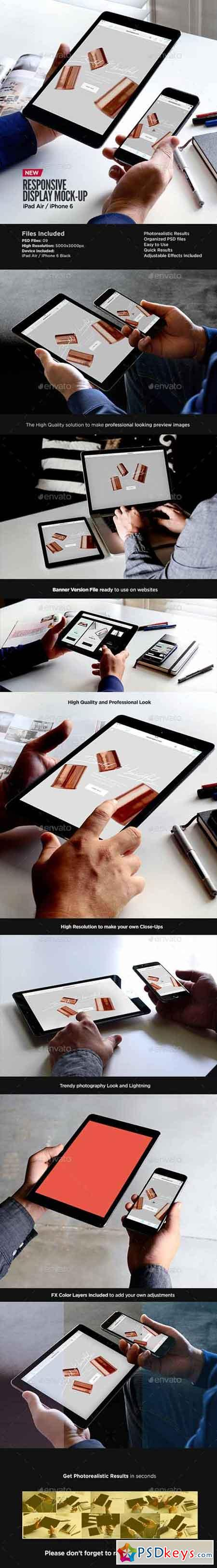 iPad Air iPhone Responsive Display Web App Mock-Up 13711991