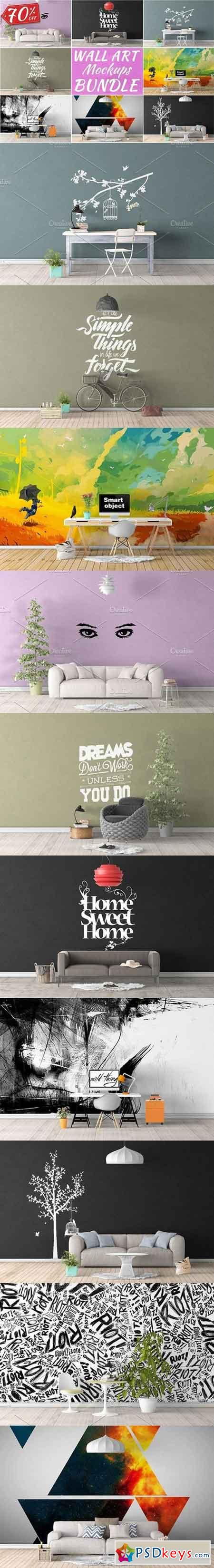 Wall Art Mockups BUNDLE V4 1079882