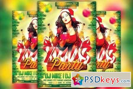 Xmas Party Flyer Template 1098309