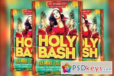Holy Xmas Bash Flyer Template 1098299