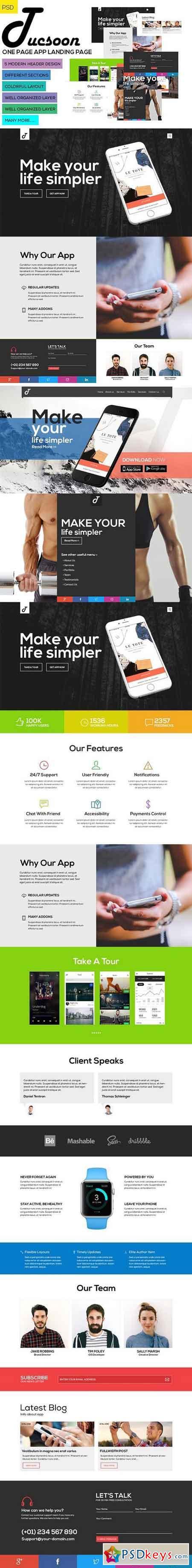 Tucson - PSD - App Landing Page 1063049