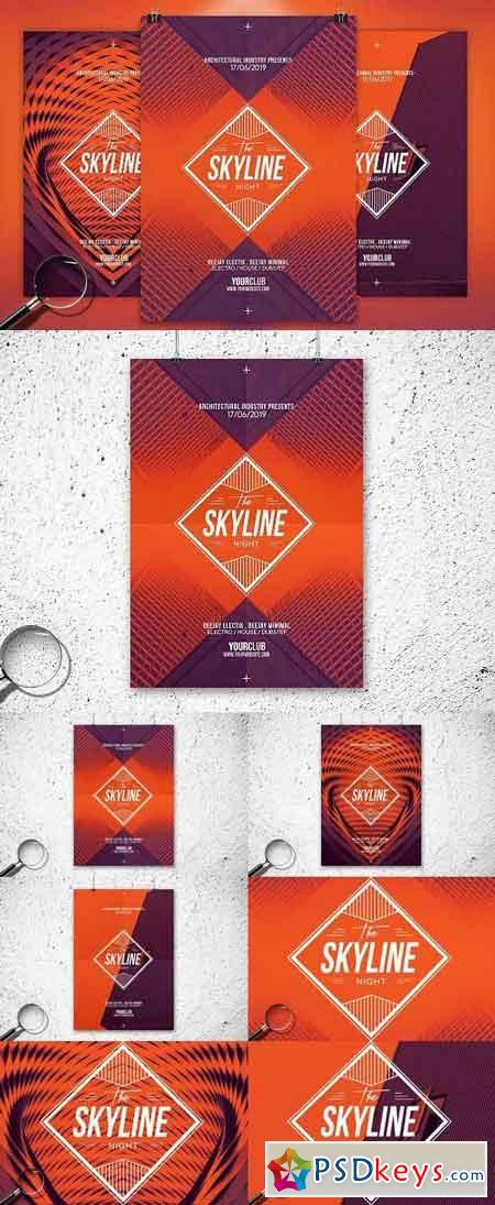 The Skyline 3in1 Flyer Template 758899