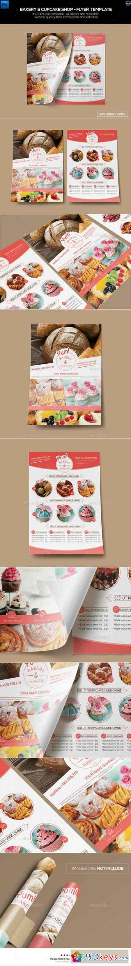 Bakery u0026 Cupcake Shop - Flyer Template 12485922 u00bb Free Download ...