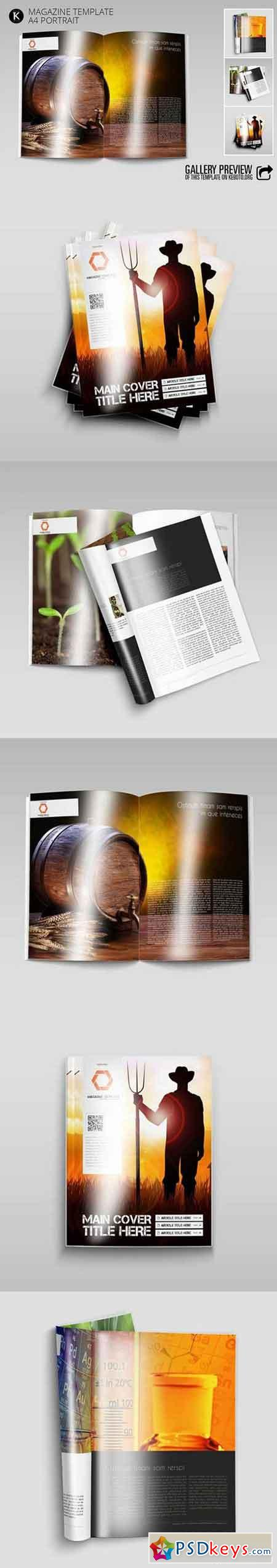 Magazine Template A4 Portrait 1039151