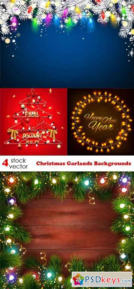 Christmas Garlands Backgrounds