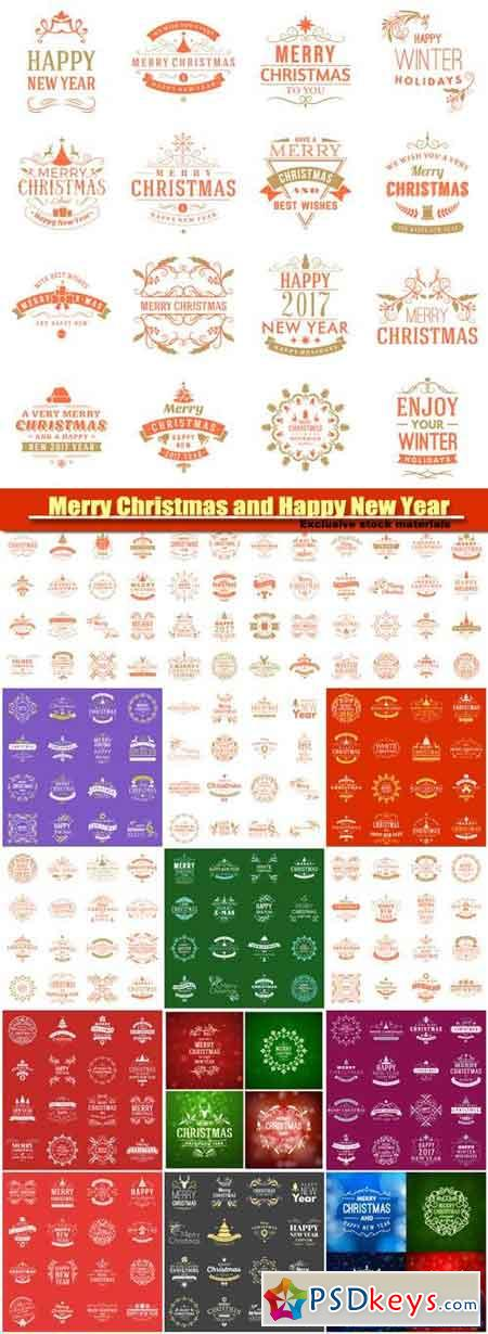 MC AND HPNY, decorative elements vector