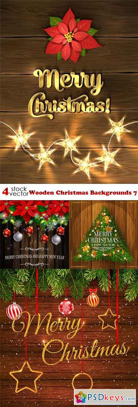 Wooden Christmas Backgrounds 7