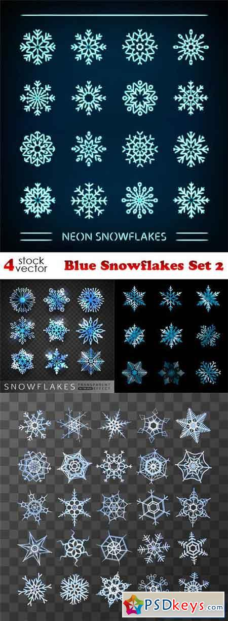 Blue Snowflakes Set 2