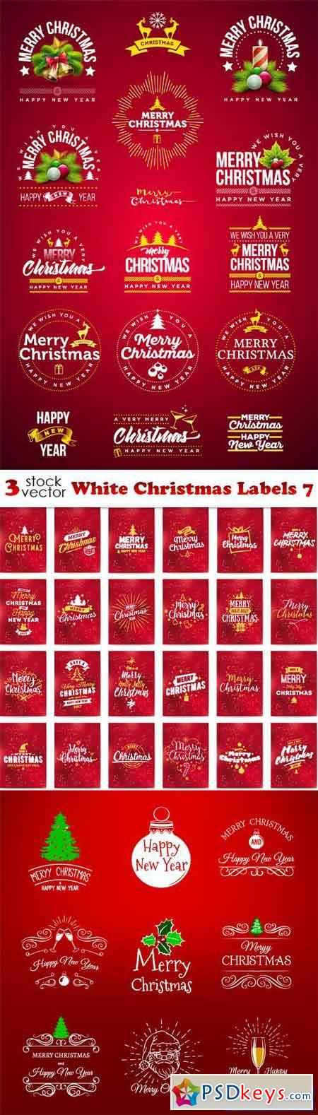 White Christmas Labels 7