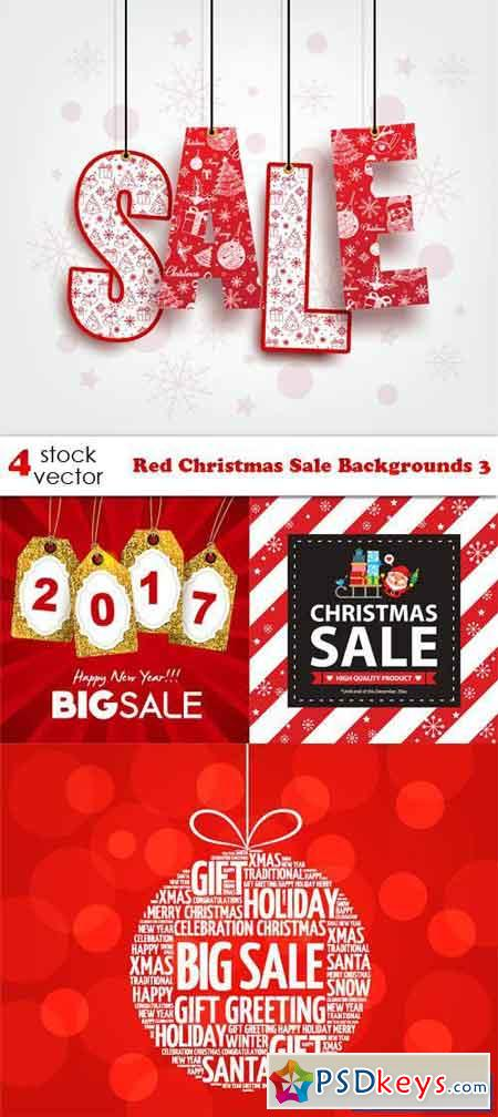 Red Christmas Sale Backgrounds 3