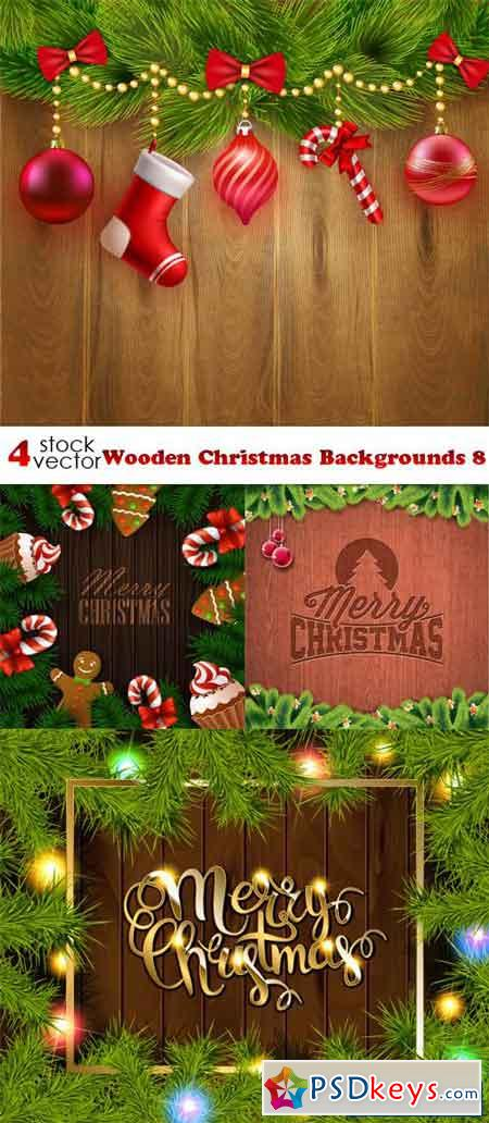 Wooden Christmas Backgrounds 8