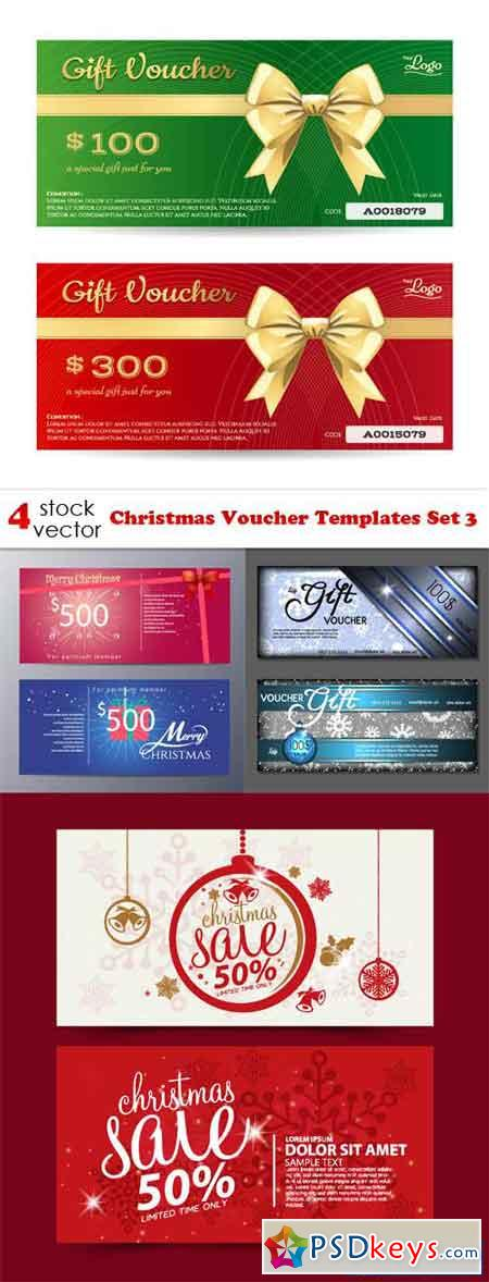 Christmas Voucher Templates Set 3