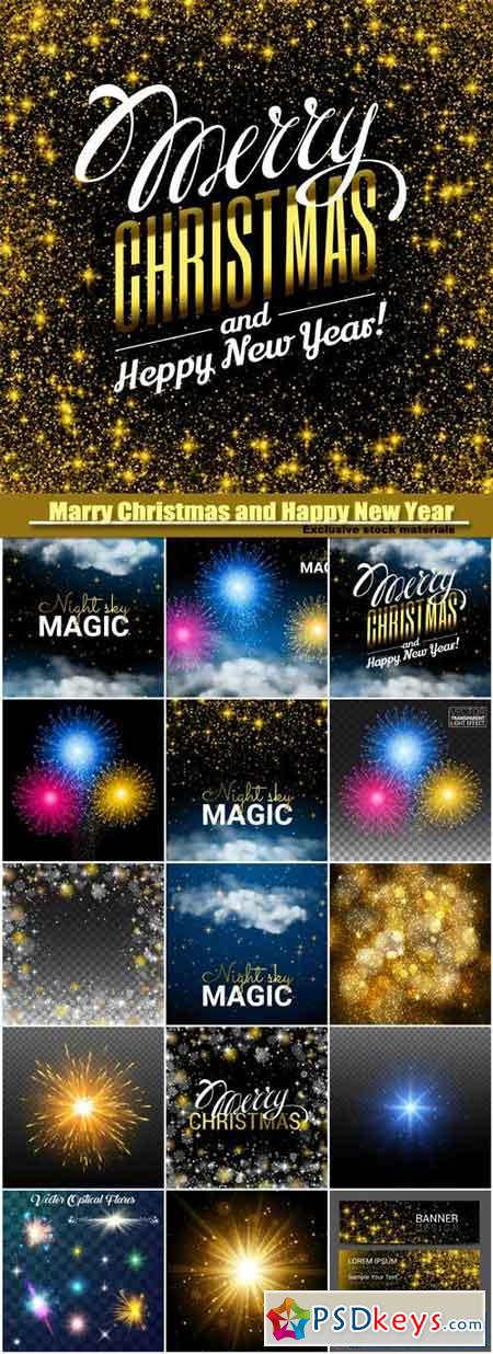 MC AND HPNY magic Christmas cloud, shining Starsand night sky abstract