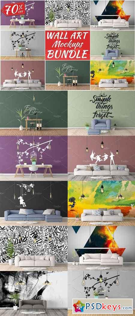 Wall Art Mockups BUNDLE V7 1092695