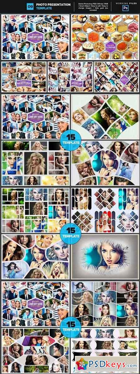 Photo Collage Template 09 752593
