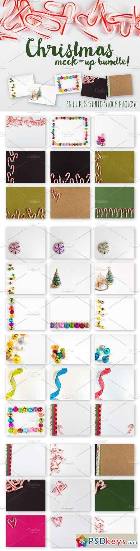 Christmas Stock Photo Mockup Bundle 1064911