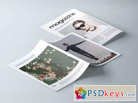A4 Psd Magazine Booklet Mockup Vol 2
