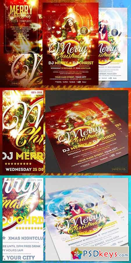 Merry Christmas Flyer Template 1101673