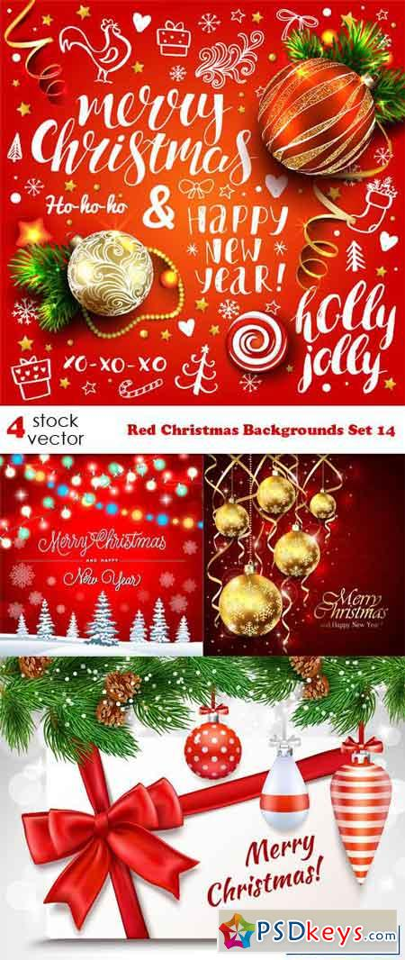 Red Christmas Backgrounds Set 14