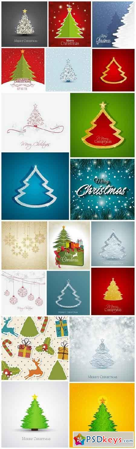New Year 2017 & Christmas Design 14 - 18xEPS Vector Stock