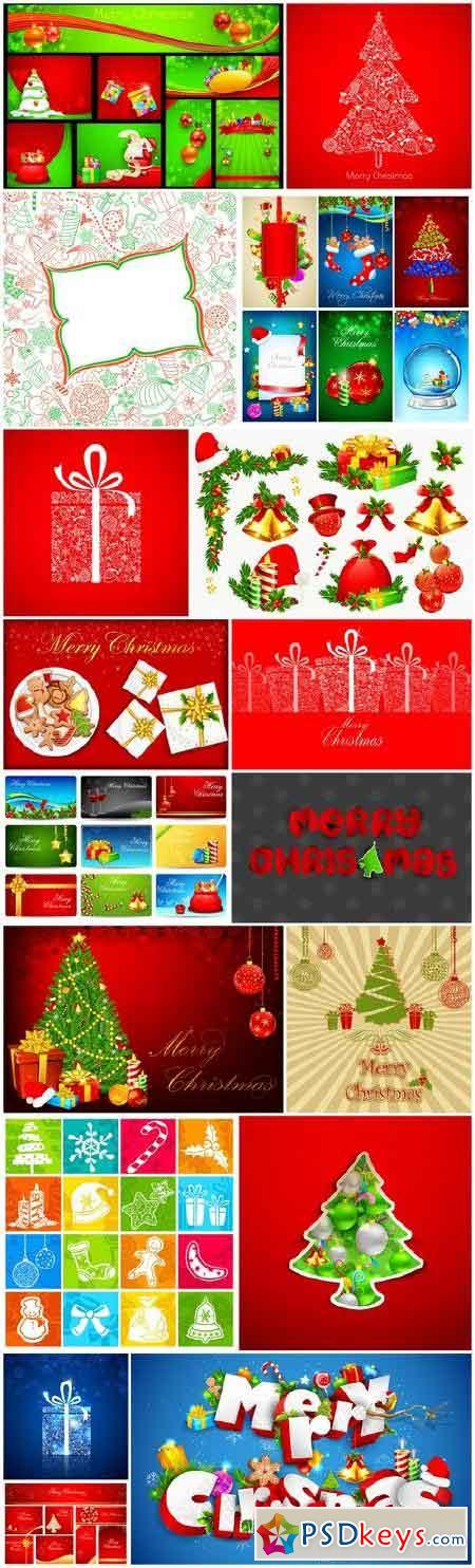 New Year 2017 & Christmas Design 13 - 17xEPS Vector Stock