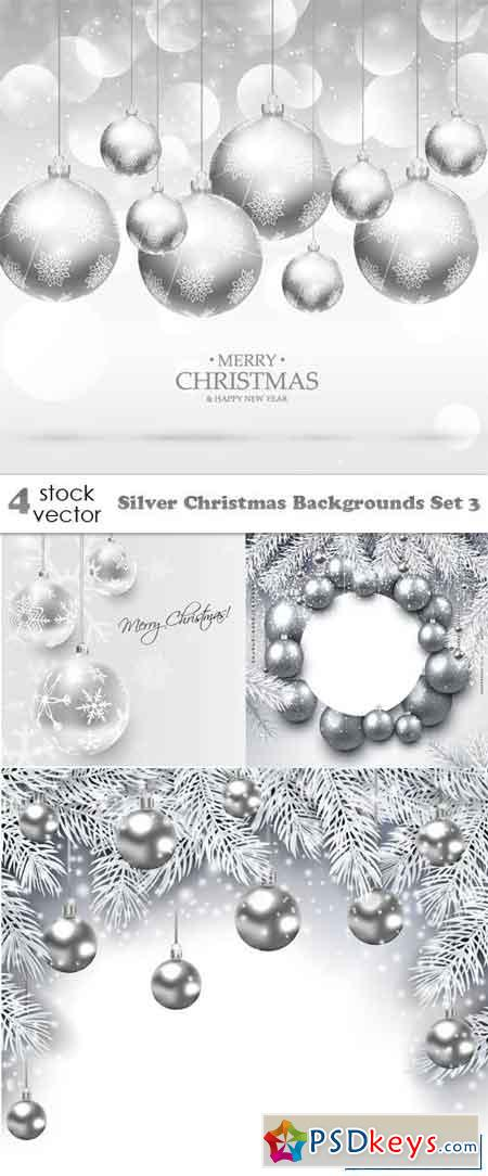 Silver Christmas Backgrounds Set 3