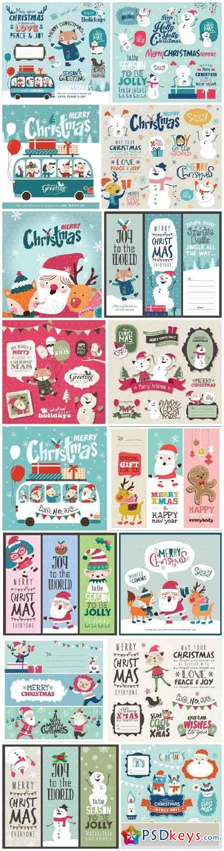 New Year 2017 & Christmas Design 13 - 16xEPS Vector Stock