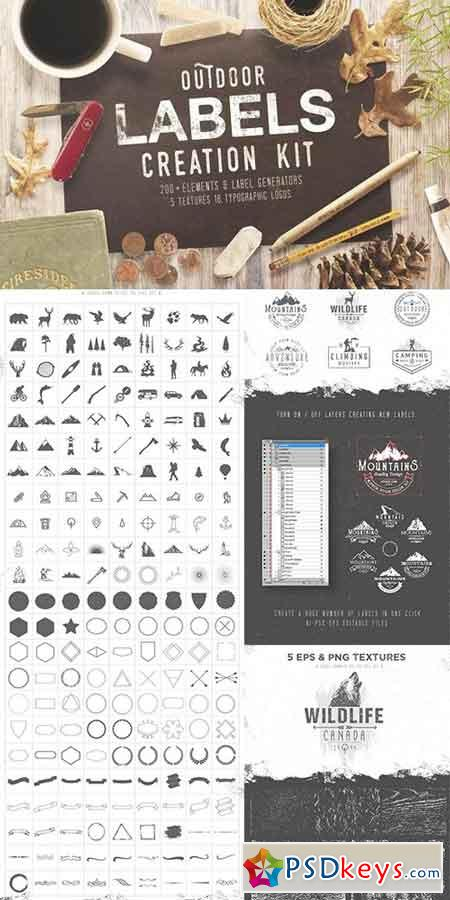 OUTDOOR LABELS CREATION KIT 1059561