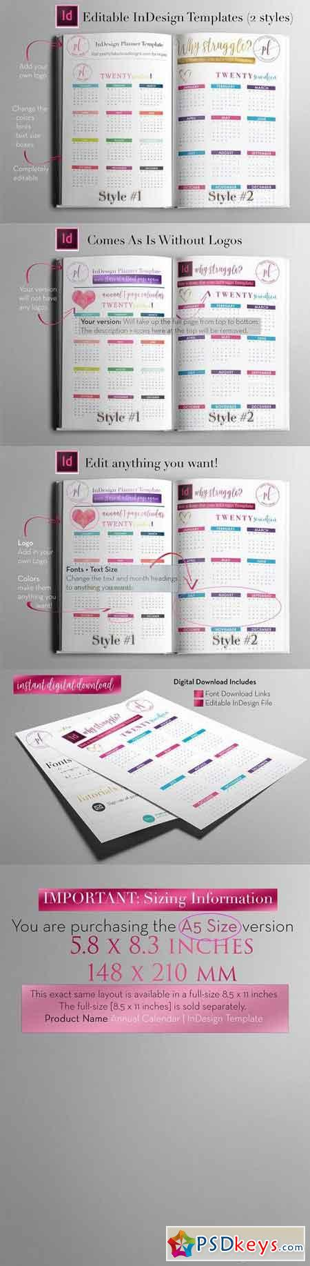 a5 annual calendar indesign templa 1113016 free download photoshop vector stock image via. Black Bedroom Furniture Sets. Home Design Ideas