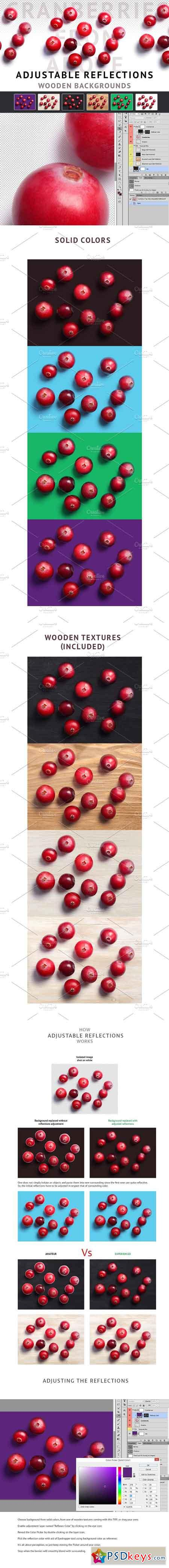 Cranberries from above 1110413