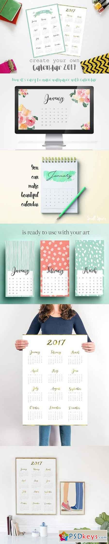 Design Your Calendar : Vector page free download photoshop stock