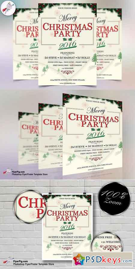 Christmas Party 2016 Flyer Template 1112392