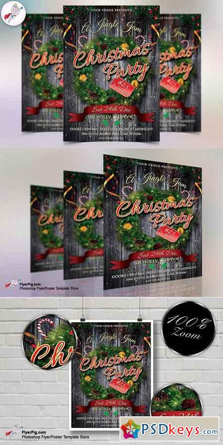 Christmas Jingle Jam Flyer Template 1112348