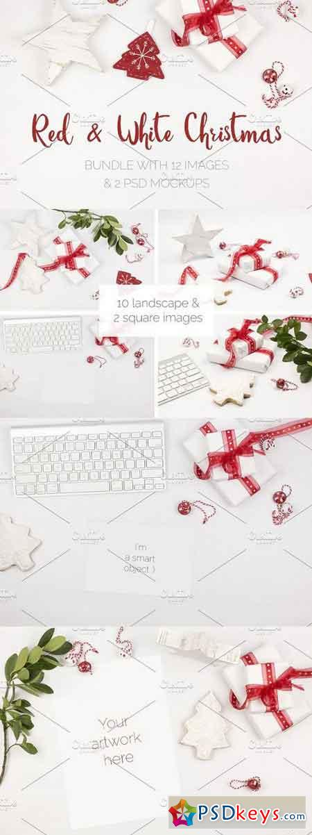 Red & White Christmas Pics & Mockups 1109888