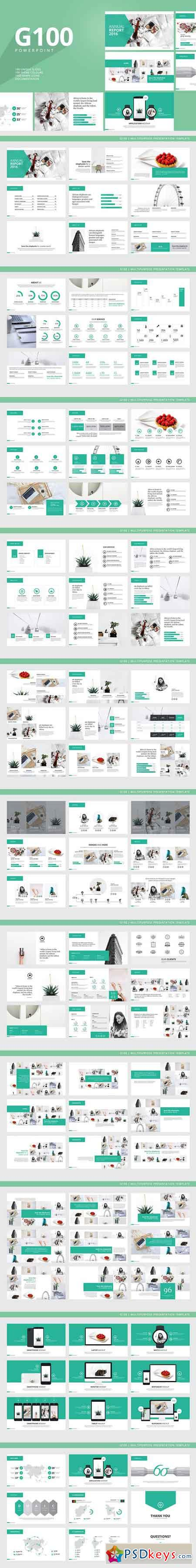 g100 magazine powerpoint template 1071828 » free download, Powerpoint templates