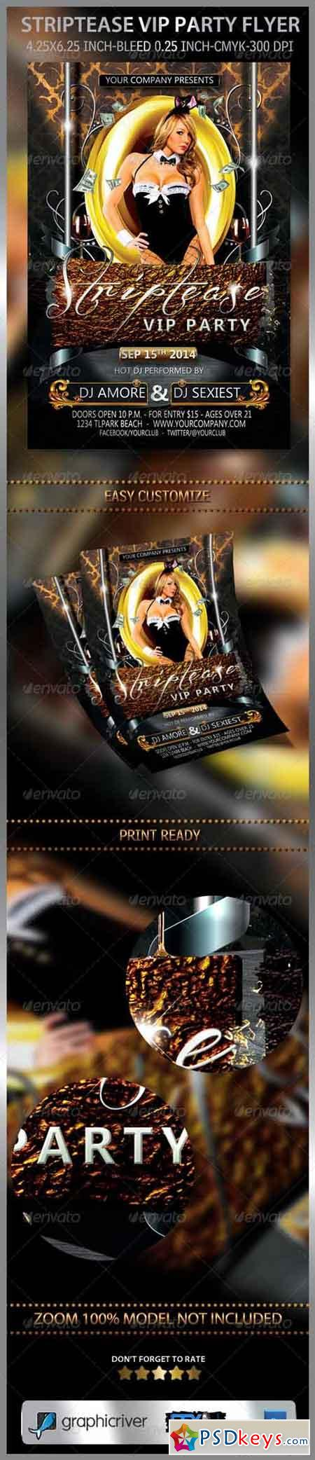 Striptease VIP Party Flyer 7301408