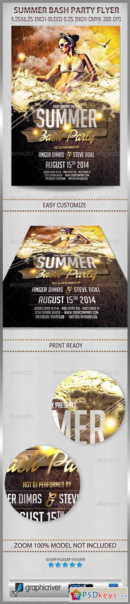 Summer Bash Party Flyer 6887251