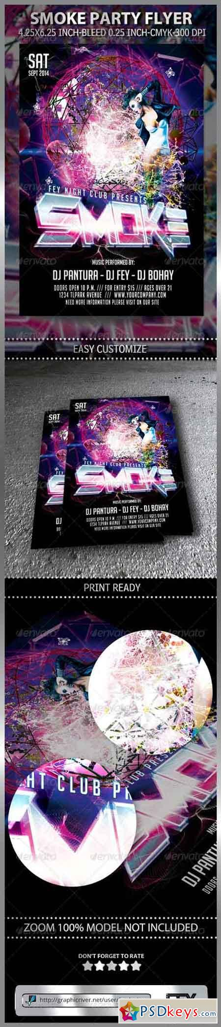 Smoke Party Flyer 8517749