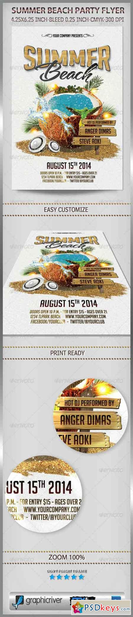 Summer Beach Party Flyer 6943064