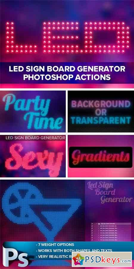 Led Sign Board Generator 1126447