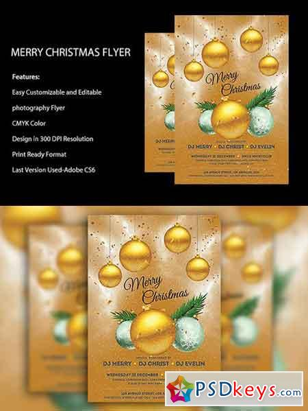 Merry Christmas Flyer Template 1070945